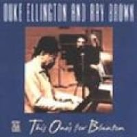 Ellington/Brown - This One's For Blanton CD (2002) (CD): Ellington/Brown