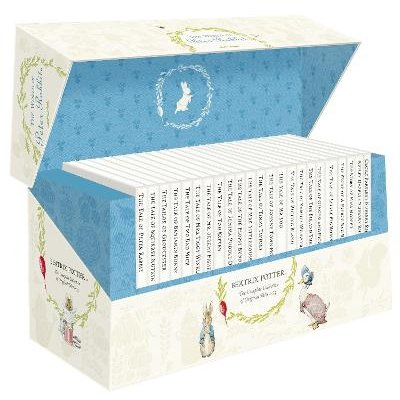 The World of Peter Rabbit - The Complete Collection of Original Tales 1-23 White Jackets (Hardcover): Beatrix Potter