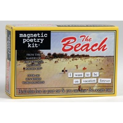 The Beach: Magnetic Poetry Kit: