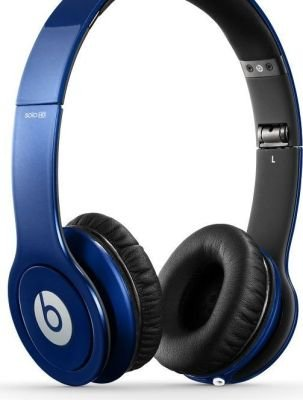 Monster Beats by Dr. Dre Solo HD On-Ear Headphones (Metallica Blue):