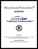 Learninglaw Trademark Fundamentals (Electronic book text): Jeffrey B. Powers