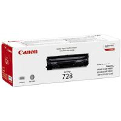 Canon 728 Black Laser Toner Cartridge: