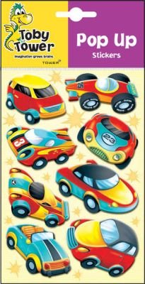 Toby Tower Pop Up Stickers (Fast Cars):