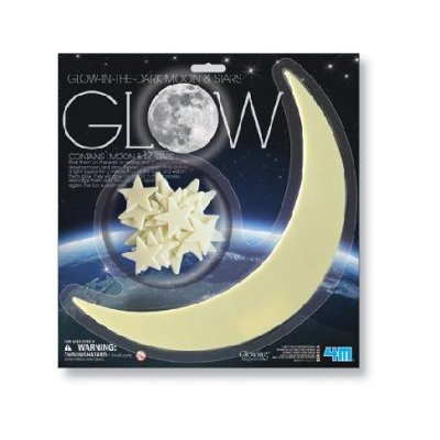 4M Glowing Imaginations - Glow Moon (Large) & Star: