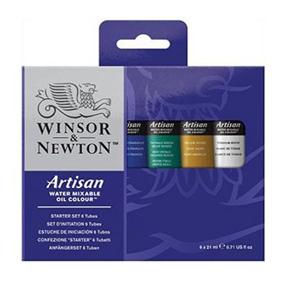 Winsor & Newton Artisan Water Mixable Oil Starter Set of Tubes (6x21ml):