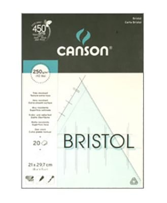 Canson Bristol Pad 250gsm A4 20s: