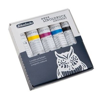 Schmincke Aqua Linoprint Lino Print Set 5x20ml (Tub):