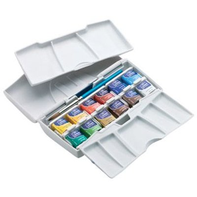 Winsor And Newton Cotman Pocket Plus Box Set (12 x Half Pans):