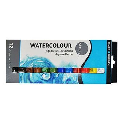 Daler Rowney Simply Watercolour Set (12x12ml):