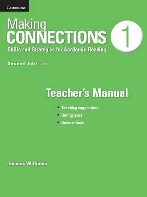 Making Connections Level 1 Teacher's Manual - Skills and Strategies for Academic Reading (Paperback, 2nd Revised edition):...