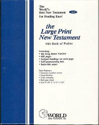 Large Print New Testament with the Book of Psalms-KJV (Large