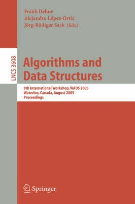 Algorithms and Data Structures, 2nd: WADS Workshop Proceedings, 1991 (Paperback, 1991): Frank Dehne, J.R. Sack, Nicola Santoro