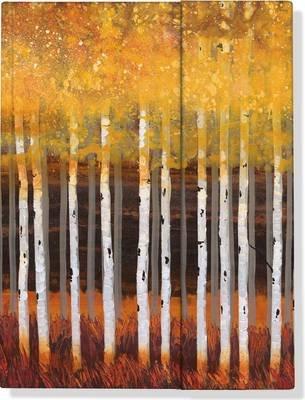 Journal Fold-over Golden Aspens (Diary): Robert Holman