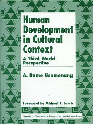 Human Development in Cultural Context - A Third World Perspective (Electronic book text): A. Bame Nsamenang