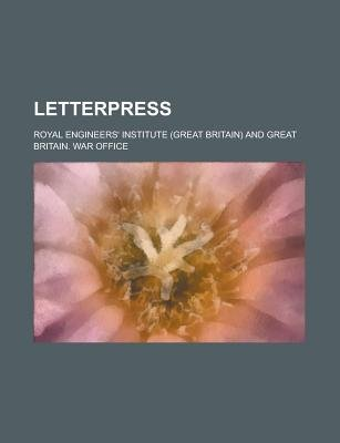 Letterpress (Paperback): Royal Engineers' Institute