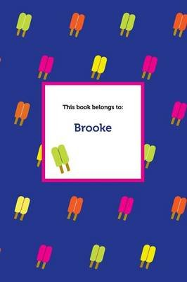 Etchbooks Brooke, Popsicle, Wide Rule (Paperback): Etchbooks