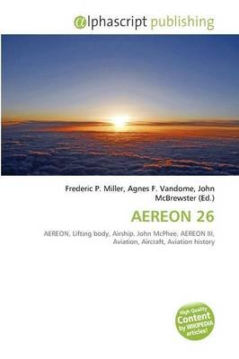Aereon 26 Paperback Frederic P Miller Agnes F Vandome John Mcbrewster 9786134254625 Books Buy Online In South Africa From Loot Co Za