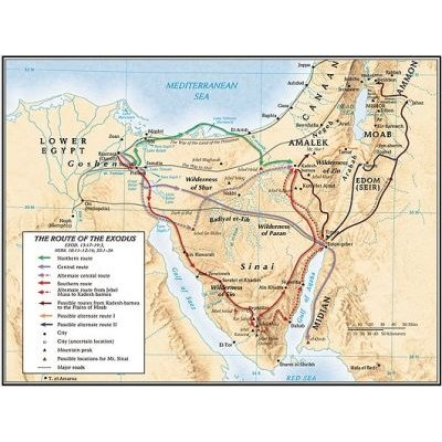 The Route of the Exodus Map (Sheet map): Broadman & Holman Publishers