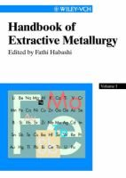 Handbook of Extractive Metallurgy (Hardcover, illustrated edition): Fathi Habashi