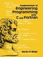 Fundamentals of Engineering Programming with C and Fortran (Paperback, New): Harley R. Myler