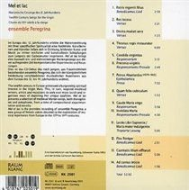 Traditional / Ensemble Peregrina - Mel Et Lac - Twelfth Century Songs for the Virgin (CD): Traditional, Ensemble Peregrina