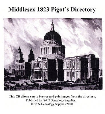Middlesex 1823 Pigot's Directory (CD-ROM):