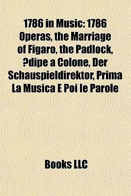 1786 in Music (Paperback): Books Llc