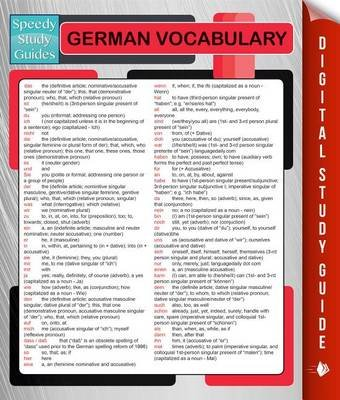 German Vocabulary (Speedy Language Study Guides) (Electronic book text): Speedy Publishing LLC