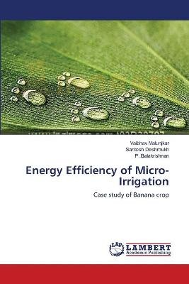 Energy Efficiency of Micro-Irrigation (Paperback): Malunjkar Vaibhav, Deshmukh Santosh, Balakrishnan P.