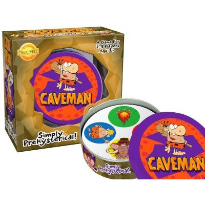 Round Tin Game - Caveman: