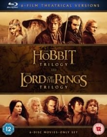 The Hobbit Trilogy/The Lord of the Rings Trilogy (Blu-ray disc): Martin Freeman, Ian McKellen, Cate Blanchett, Hugo Weaving,...