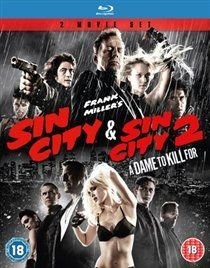 Sin City/Sin City 2 - A Dame to Kill For (Blu-ray disc): Rosario Dawson, Michael Madsen, Josh Brolin, Jessica Alba, Elijah...
