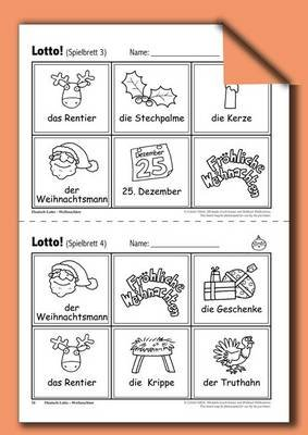 Deutsch-Lotto - Weihnachten - A Fun Way to Reinforce German Vocabulary (German, Electronic book text, 1st edition): Colette...