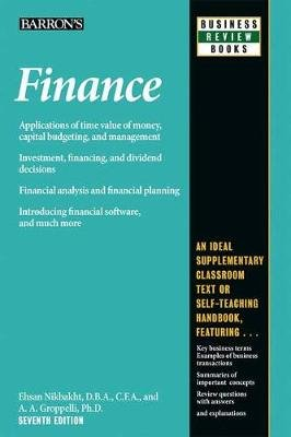 Finance (Paperback, Seventh Edition): Angelico Groppelli, Ehsan Nikbakht
