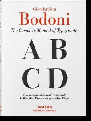 Giambattista Bodoni. Manual of Typography (Hardcover): Stephan Fussel