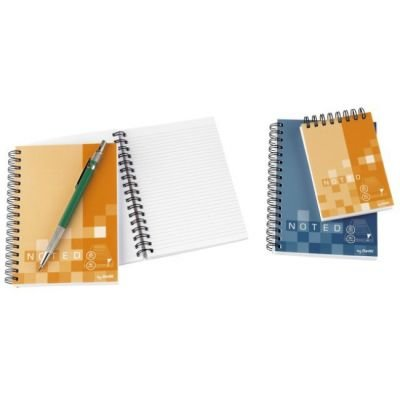 Bantex B1831 Noted Twin Wire Soft Notebooks (A7)(Assorted) (Spiral bound):