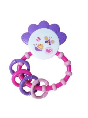 Snookums Crown Teether Rattle (Pink):