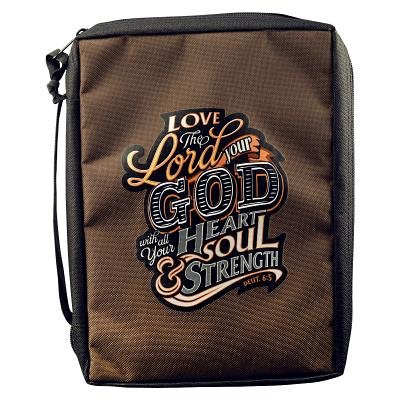 Bible Cover Brown Love Lord Your God Medium Value: Christian Art Gifts