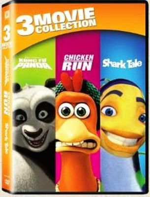 3-Movie Collection - Kung Fu Panda / Chicken Run / Shark Tale (DVD, Boxed set):