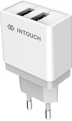 INTouch IT-TCU3013-WH Dual Travel Wall Charger (White)(2.4A):