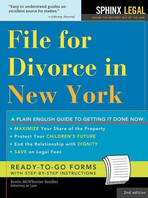 File for Divorce in New York (Paperback, 2nd): Brette McWhorter Sember