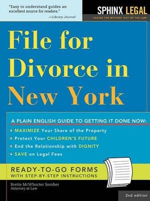 File for Divorce in New York (Paperback, 2nd): Brette McWhorter Sember