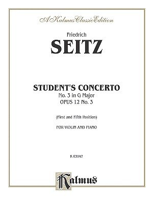 Student's Concerto No. III in G Minor, Op. 12 (Paperback): Alfred Publishing