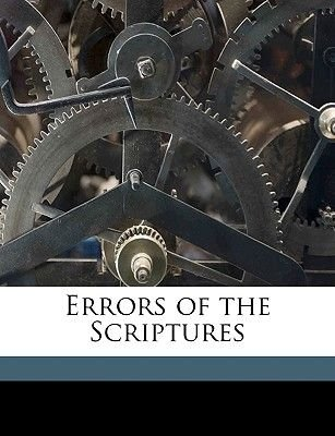 Errors of the Scriptures (Paperback): Frederic Gardiner