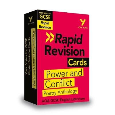 York Notes for AQA GCSE (9-1) Rapid Revision Cards: Power and Conflict AQA Poetry Anthology (Cards): Laura Burden