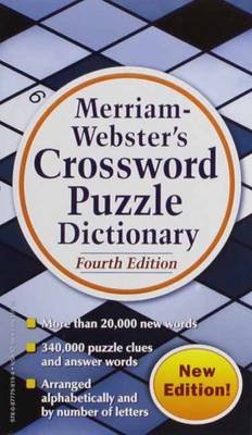 Merriam Webster's Crossword Puzzle Dictionary (Paperback, 4th Revised edition): Merriam-Webster Inc.