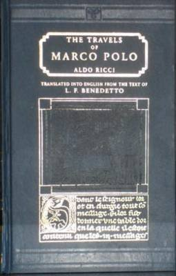 Travels of Marco Polo (Hardcover, Facsimile of 1931 ed): L.F. Benedetto