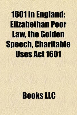 the elizabethan poor law of 1601