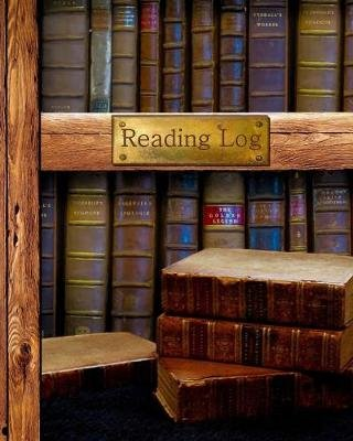 "Reading Log - Gifts for Book Lovers / Reading Journal [ Softback * Large (8"" X 10"") * Antique Books * 100 Spacious Record Pages..."