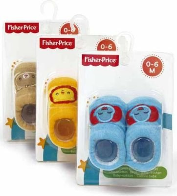 Fisher Price Socks (Lion | 0-6 Months):